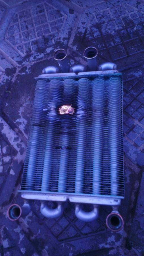 Ремонт теплообменника газового котла Baxi