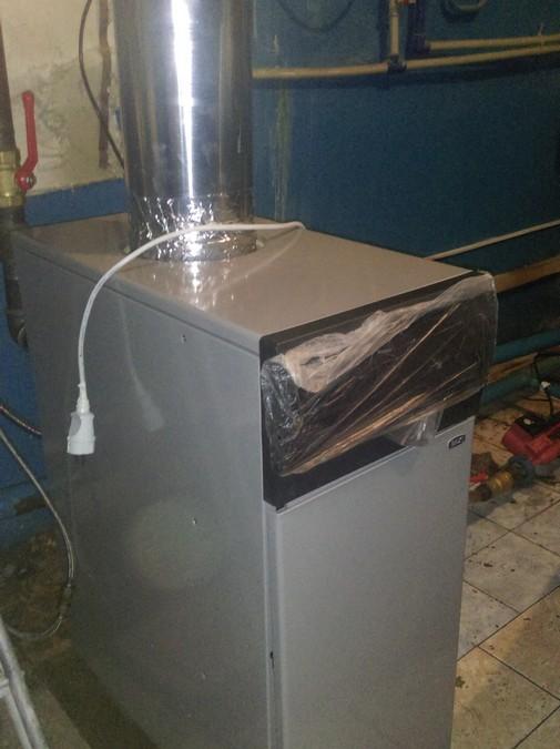 Монтаж напольного газового котла Baxi Slim