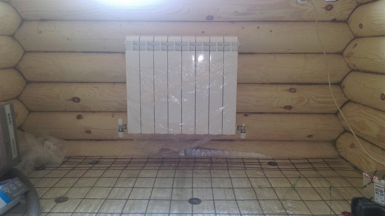 Теплый пол водяной своими руками для бани видео