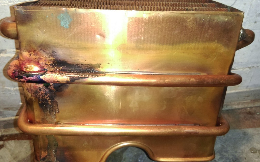 Пайка теплообменника газовой колонки Нева 4510