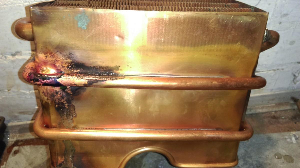 Теплообменник медный ремонт теплообменник масла на пассат в3
