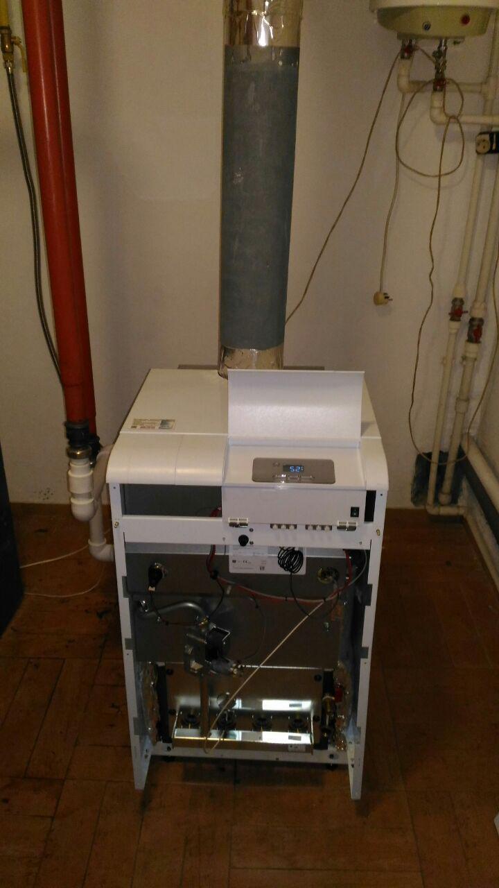 Монтаж напольного газового котла Protherm Medved 40 klom