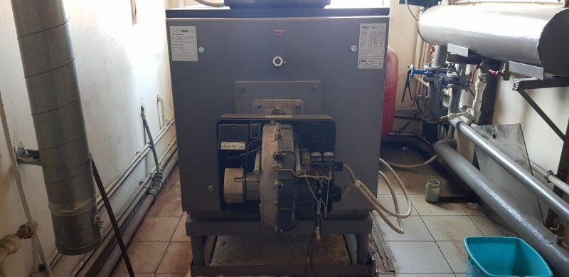 Техническое обслуживание напольного дизельного котла Riello