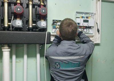 Монтаж, настройка погодозависимой автоматики управления отоплением Vaillant и установка внешнего уличного датчика, РТ, Тетюши